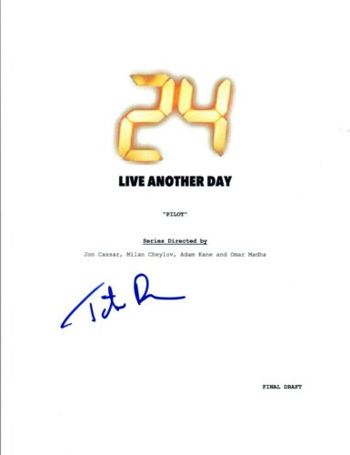 Tate Donovan Signed Autographed 24 LIVE ANOTHER DAY Pilot Episode Script COA VD