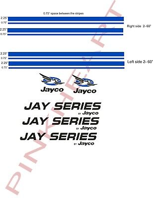 jayco Decal Sticker RV camper trailer jayco rv jayjeries JAY SERIES USA decals