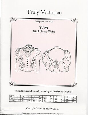 Schnittmuster TV 402 1872 Carriage Bodice