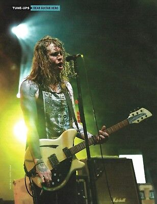 Laura Jane Grace (Against Me band) with Rickenbacker Guitar 8 x 11 pin-up photo