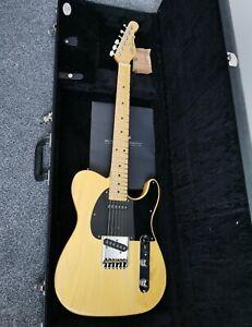 G&L USA Fullerton Deluxe ASAT Classic Guitar Swamp Ash Butterscotch Telecaster