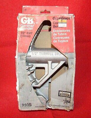 Gardner Bender 910b 12 Thinwall Pipe Bender Conduit Bender - Nib