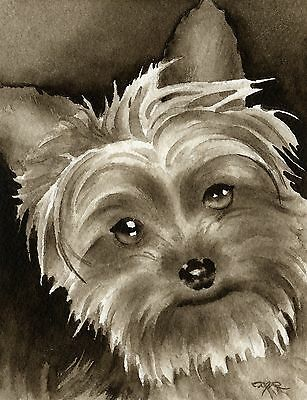 YORKSHIRE TERRIER PUPPY note cards by watercolor artist DJ Rogers