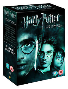 Harry Potter Collection - Years 1 to 7B (DVD, 2011, 8 Film Disc Set, Box Set)