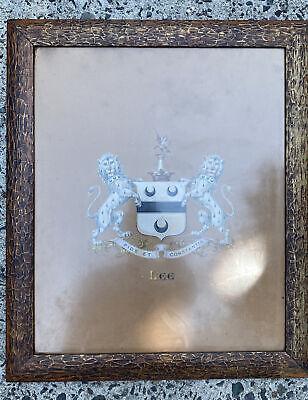 Vintage Lee Family Crest/ Coat of Arms Print,  Framed
