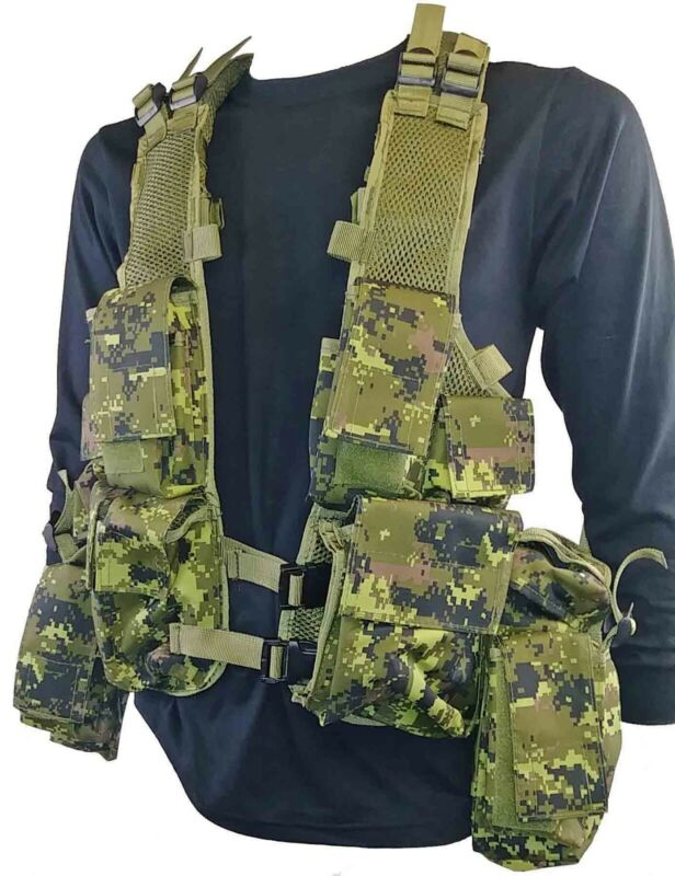 Digital cadpat south african tactical assault vest paintball/airsoft 12 pockets