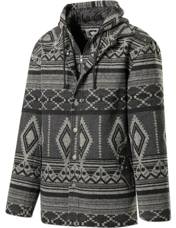 Herrenjacke im Azteken-Design mit Hoodie Westernstyle Country Western »Yukon«