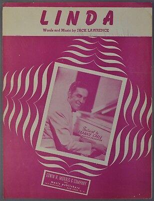 1946 LINDA Sheet Music FRANKIE CARLE Jack Lawrence