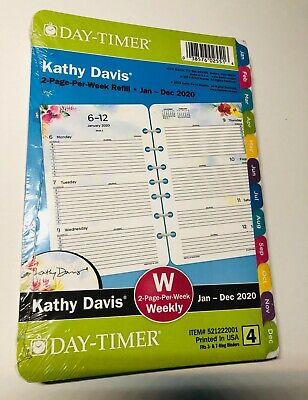 Day-timer Kathy Davis 2020 Weeklymonthly Planner 8.5x5.5 Refill 4