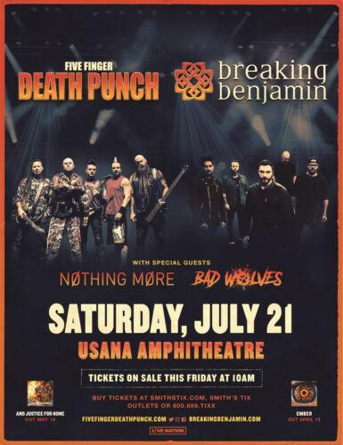 FIVE FINGER DEATH PUNCH / BREAKING BENJAMIN 2018 SALT LAKE CONCERT TOUR POSTER