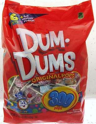 Dum Dums 300 Pops lollipop candy 51oz (3.2 lbs) Bag 16 lolli Flavors - Dum Dums Flavors