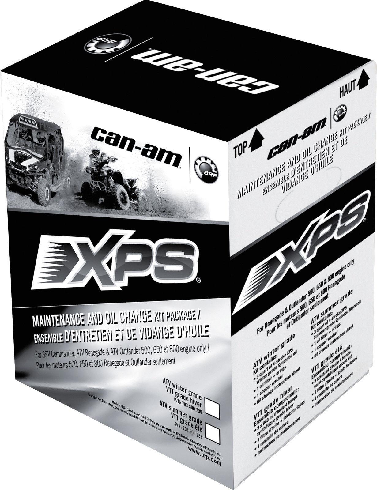 Can-Am XPS Outlander Commander Renegade Maverick Oil Change Kit Synthetic