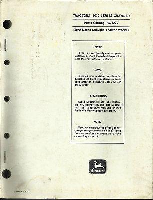 John Deere 1010 Series Crawler Parts Catalog