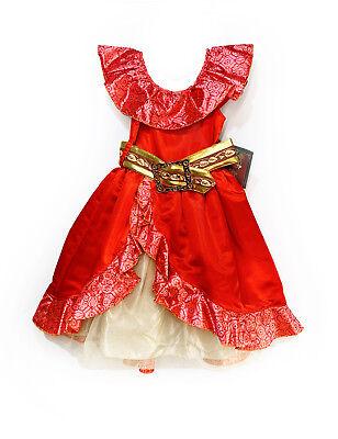 Spanish Girl Costume (Disney Store Elena Avalor Costume Spanish Red Girls Dress Size 3 & 4)