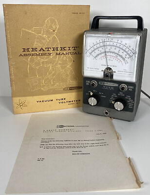 Vintage Heathkit Im-11 Vtvm Vacuum Tube Volt Meter W Manual