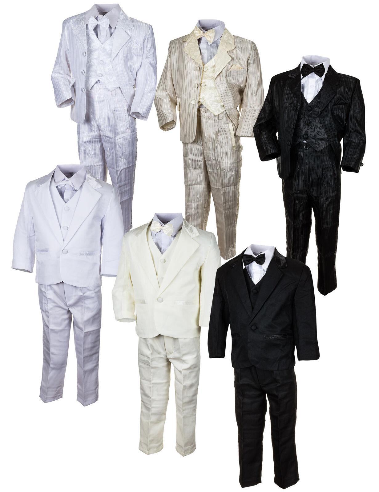 Festlicher 5tlg. Jungen Anzug Kommunionsanzug Smoking NEU Kinderanzug Hochzeit