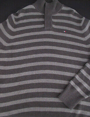 Tommy Hilfiger Mens Pullover Knit Long Sleeve Cotton Stripe Sweater Large L