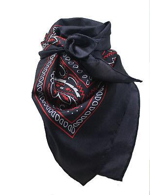 Wild Rag 100% Silk Black Bandana