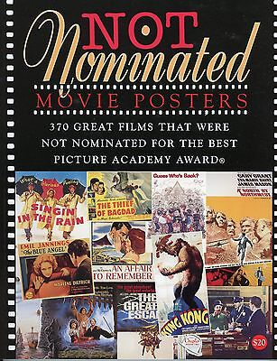 Not Nominated Movie Posters  Book   370 Films Not Oscar Nominated   New  Mint