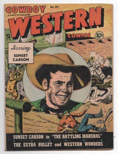 COWBOY WESTERN 28  CHARLTON  COMIC BOOK 1950