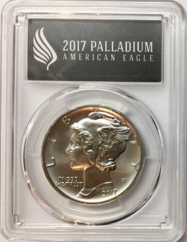 2017 1 oz  Palladium American Eagle First Strike PCGS MS-70 POP 500