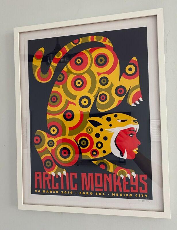 Framed Arctic Monkeys Foro Sol Mexico City RARE Artist Proof poster Dan Stiles