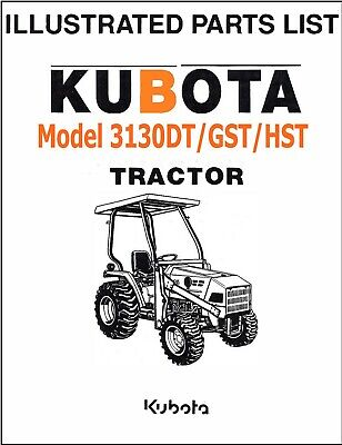Kubota L3130 Dt Gst Hst Tractor Illustrated Parts Manual Exploded-diagrams