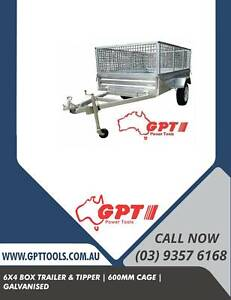 GALVANISED CAGE TRAILER - 6x4 - 600MM