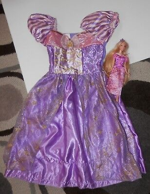 Disney Store rapunzel tangled costume sz 4-6 with matching doll - Teen Twin Costumes