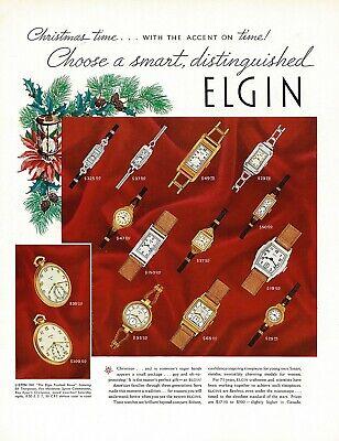 1930s BIG Original Vintage Elgin Pocket Watch Art Print Ad