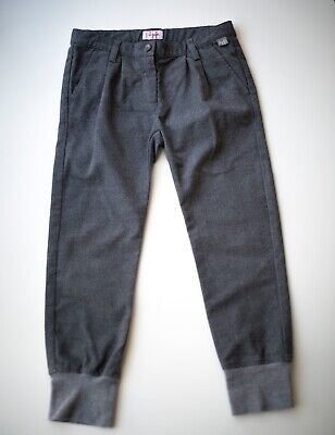 6T Il Gufo Super Soft Gray pants in Adjustable Waist Luxury Italian design
