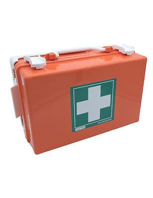 FLEXEO Erste-Hilfe-Kasten Verbandkoffer für Wandmontage, in orange, leer