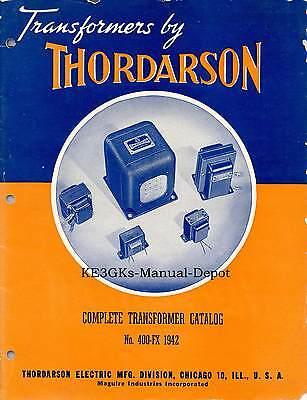 Thordarson Transformers Catalog 1942  Cdrom  Pdf