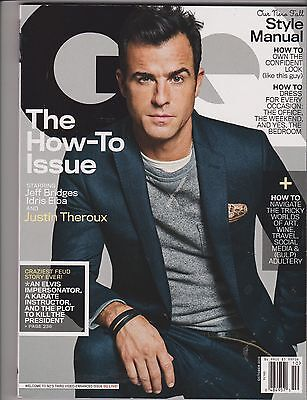 Gq Magazine October 2013  The How To Issue  Style Manual  Justin Theroux Cover