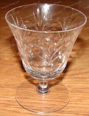 Etched Crystal Liquor Glass (Cut Leaf & Ball design) Stemware, Barware Engraved Crystal Barware