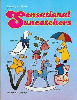 Sensational Suncatchers Stained Glass Pattern Book, Flowers Birds Animals More..
