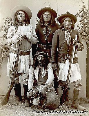 Apache Men (Scouts?) 1881 - Native Americans - Historic Photo Print