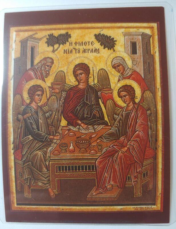 Holy Trinity laminated icon Св. Троица ламиниров иконa