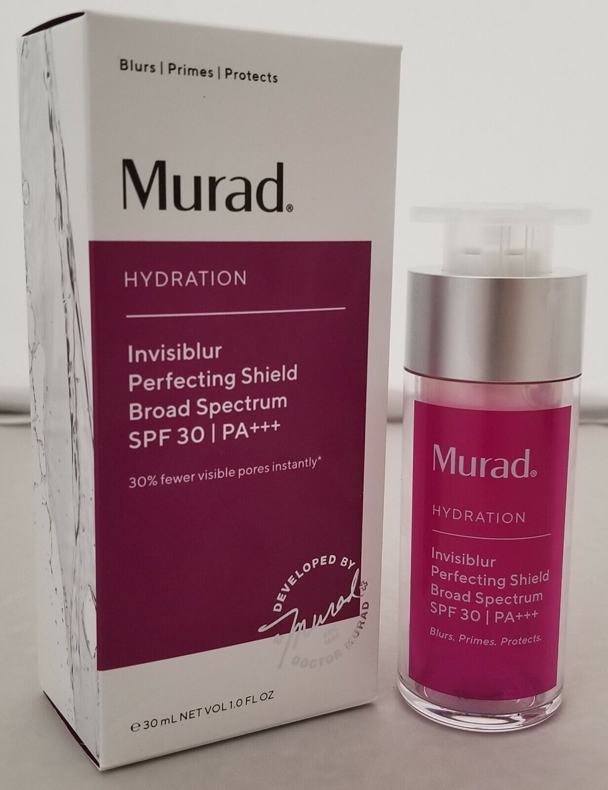 Murad Hydration Invisiblur Perfecting Shield SPF 30, EXP 01/