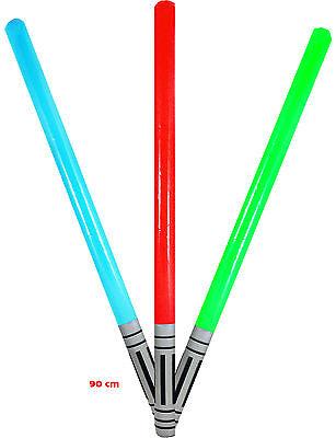 Auswahl! Lichtschwert 90 cm aufblasbar Laserschwert Schwert Laser Licht Waffe