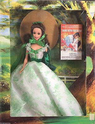 NIB Barbie Doll 1994 Scarlett O'Hara By Mattel Green & White Dress BBQ