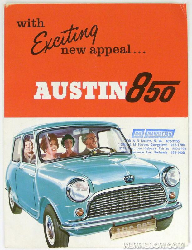 Austin 1962 850 Sedan, Super 850 Sedan British Motor Corp. Poster Sales Brochure