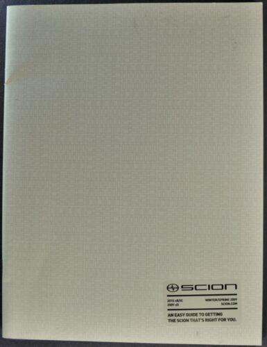 2009 Scion 32pg Catalog Brochure xB tC xD Tuner Cars Excellent Original 09