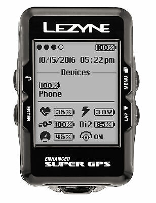 Lezyne Super GPS Cycling Computer Heart Rate Monitor USB Chargeable for sale  Shipping to India