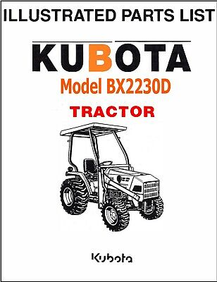 Kubota Bx2230d Tractor Illustrated Parts Manual Exploded-diagrams