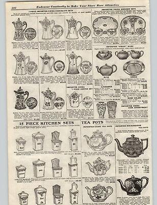 1922 PAPER AD Imported Rockingham Tea Pots China Chocolate Sets Awaji Ware