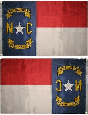 3x5 State of North Carolina Flag 3'x5' Grommets Banner Indoor Outdoor Polyester - North Carolina Outdoor State Flag