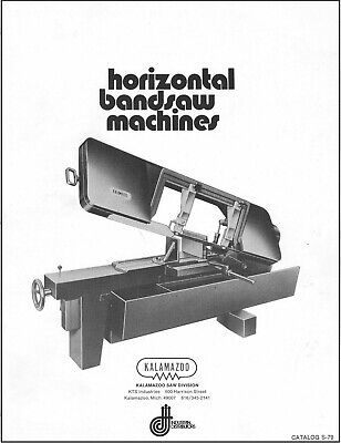 Kalamazoo Saw Division - Horizontal Bandsaw Machines And 1980 Price List