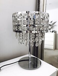 2x Bedside Table (Soula Crystal) Lamps Pagewood Botany Bay Area Preview