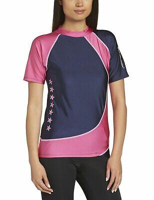 Zunblock Damen UV Schutzkleidung Shirt, Rosa, Gr. 40-42 (L)